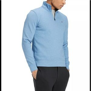 Tommy Hilfiger Men's Blue Quarter Zip Sweater